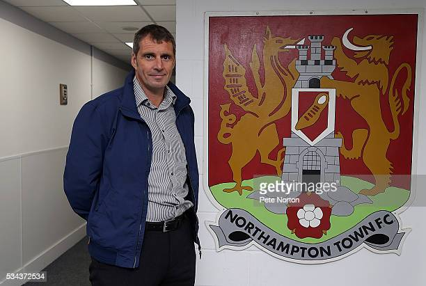 Northampton Town FC New Head of Player Recruitment Andy Melville poses during a Photo Call to announce his appointment at Sixfields on May 25 2016 in...