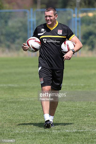 Northampton Town manager Aidy Boothroyd looks on during a preseason training session on July 1 2013 in Novigrad Croatia