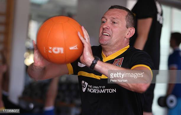 Northampton Town manager Aidy Boothroyd takes part in a gym session during PreSeason Training on July 2 2013 in Novigrad Croatia