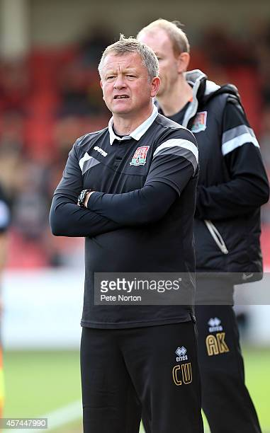 Northampton Town manager Chris Wilder looks on during the Sky Bet League Two match between Cheltenham Town and Northampton Town at Whaddon Road on...