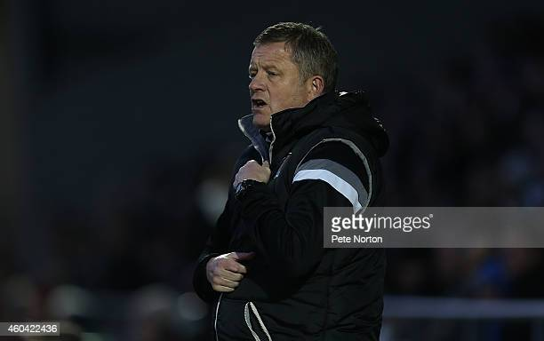 Northampton Town manager Chris Wilder looks on during the Sky Bet League Two match between Northampton Town and Plymouth Argyle at Sixfields Stadium...