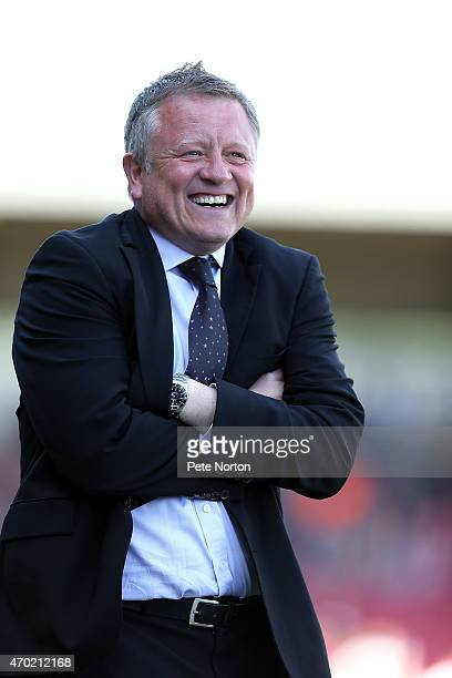 Northampton Town manager Chris Wilder looks on during the Sky Bet League Two match between Northampton Town and Cheltenham Town at Sixfields Stadium...