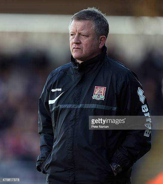 Northampton Town manager Chris Wilder looks on during the Sky Bet League Two match between Northampton Town and Bristol Rovers at Sixfields Stadium...