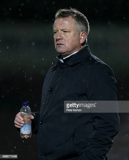 Northampton Town manager Chris Wilder looks on during the Sky Bet League Two match between Northampton Town and Yeovil Town at Sixfields Stadium on...