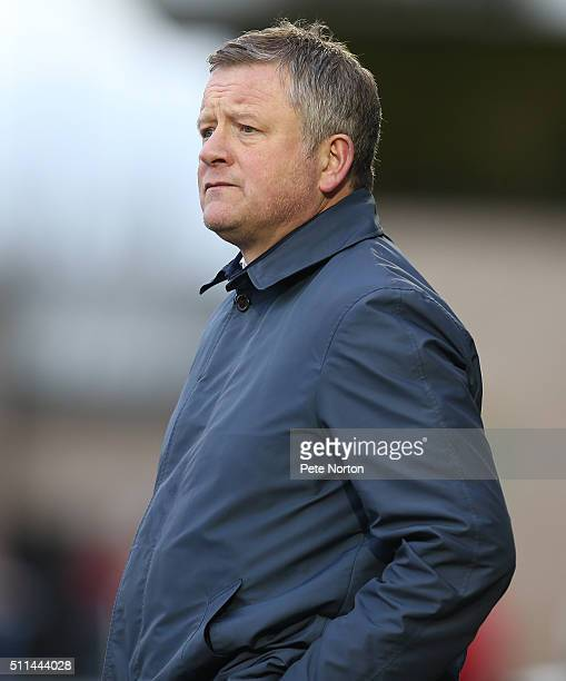 Northampton Town manager Chris Wilder looks on during the Sky Bet League Two match between Northampton Town and Wycombe Wanderers at Sixfields...