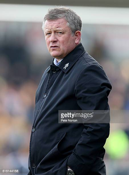 Northampton Town manager Chris Wilder looks on during the Sky Bet League Two match between Northampton Town and Cambridge United at Sixfields Stadium...