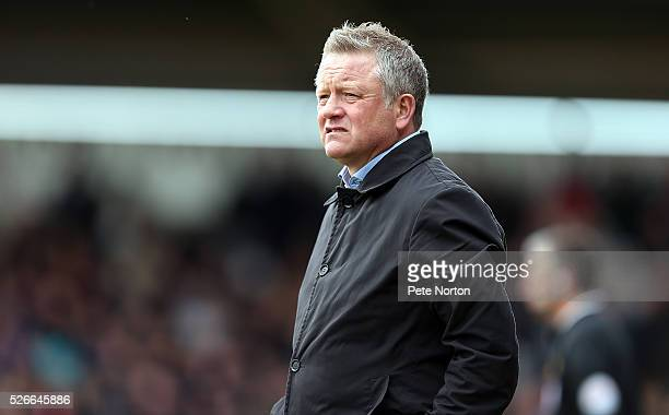 Northampton Town manager Chris Wilder looks on during the Sky Bet League Two match between Northampton Town and Luton Town at Sixfields Stadium on...