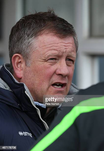 Northampton Town manager Chris Wilder looks on prior to the Sky Bet League Two match between Bury and Northampton Town at The JD Stadium on March 21...