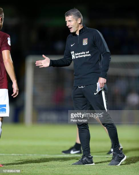 Northampton Town manager Dean Austin during the Carabao Cup First Round match between Wycombe Wanderers and Northampton Town at Adams Park on August...