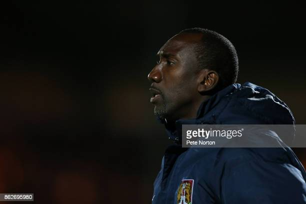 Northampton Town manager Jimmy Floyd Hasselbaink looks on during the Sky Bet League One match between Rochdale and Northampton Town at Spotland...