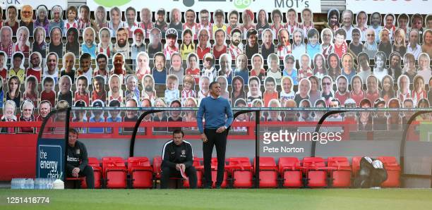 Northampton Town manager Keith Curle looks on during the Sky Bet League Two Play Off Semifinal 2nd Leg match between Cheltenham Town and Northampton...
