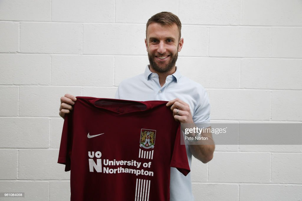 Northampton Town Unveil New Signing Andy Williams