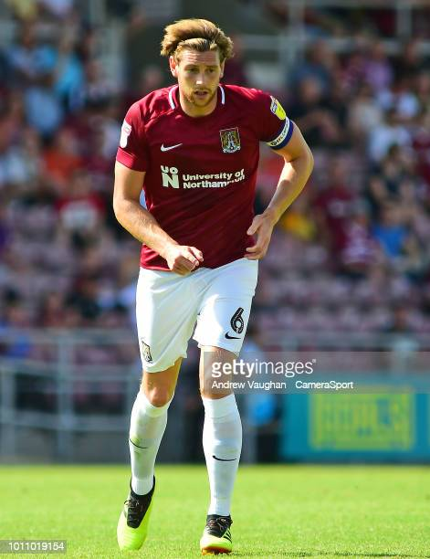 Northampton Town's Ash Taylor during the Sky Bet League Two match between Northampton Town and Lincoln City at Sixfields on August 4 2018 in...