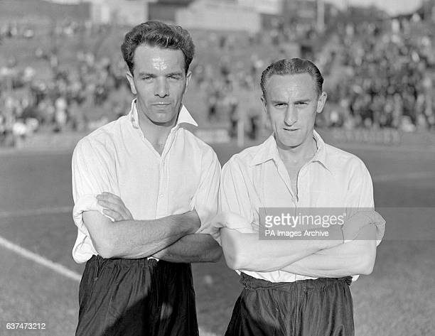Northampton Town's Kenneth Oakley and Thomas Fowler