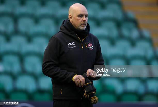 Northampton , United Kingdom - 10 April 2021; Ulster head coach Dan McFarland before the Heineken Challenge Cup Quarter-Final match between...