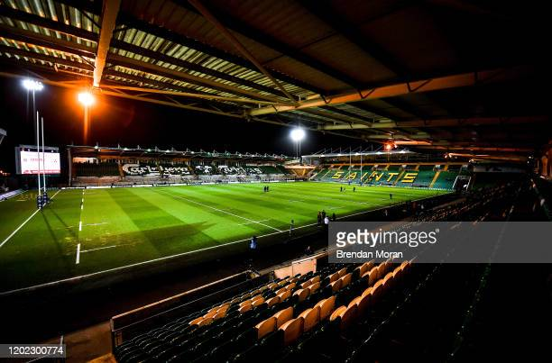 Northampton , United Kingdom - 21 February 2020; A general view of Franklin's Gardens prior to the Six Nations U20 Rugby Championship match between...