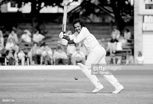 Northamptonshire captain Mushtaq Mohammad batting during the John Player Sunday League match against Glamorgan at the County Ground in Northampton...