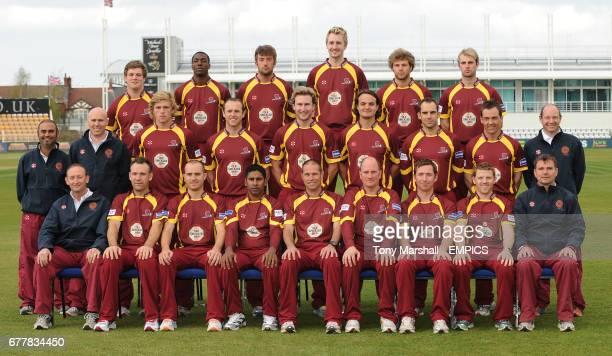 Northamptonshire County Cricket Club first Xl in T20 Kit. BACK ROW, Rob Newton, David Burton, Luke Evans, David Murphy, Ben Howgego, Sam Sweeney....