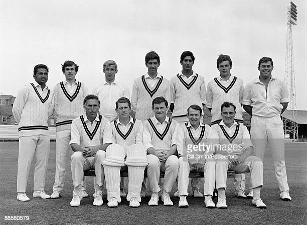 Northamptonshire County cricket team, pre-season, 1970. Back row : Mushtaq Mohammad, Dennis Breakwell, David Steele, Jim Watts, Sarfraz Nawaz, Mike...