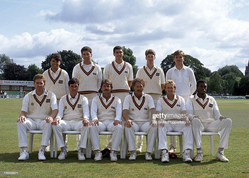 Northamptonshire cricket team, circa May 1990  Back row : Nigel