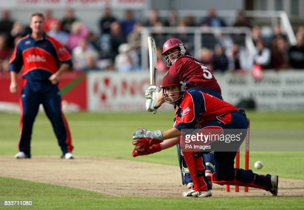 Northamptonshire's David Sales clips a shot to the boundary off the bowling of Ian Blackwell during the North Division Twenty20 Cup match at Trent...