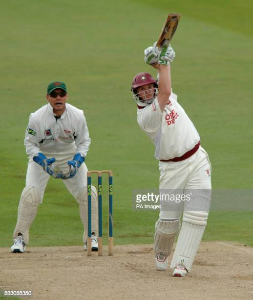 Northamptonshire's David Sales in action against Leicestershire during the Liverpool Victoria County Championship Division Two match at The County...