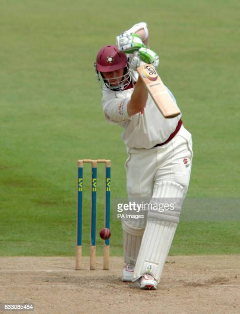 Northamptonshire's David Sales in action during the Liverpool Victoria County Championship Division Two match at The County Cricket Ground Wantage...