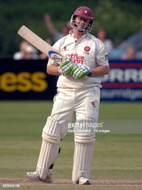 Northamptonshire's David Sales is dissmissed for 99 during the Liverpool Victoria County Championship Division Two match against Gloucestershire at...