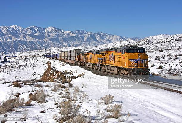 CONTENT] A northbound Union Pacific stack train makes it's way through the famous Cajon Pass in Southern California This was the day after a good...