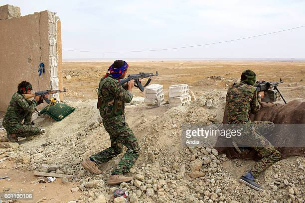 The Kobani canton in the Federation of Northern Syria Rojava more commonly known as Syrian Kurdistan or Western Kurdistan struggles against Daesh...