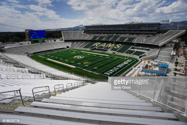 Northeast upper deck of the new Colorado State University oncampus stadium July 18 2017
