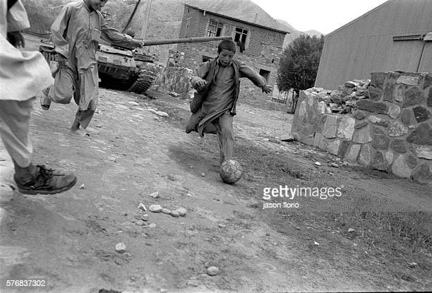 Northeastern Afghanistan boys playing football
