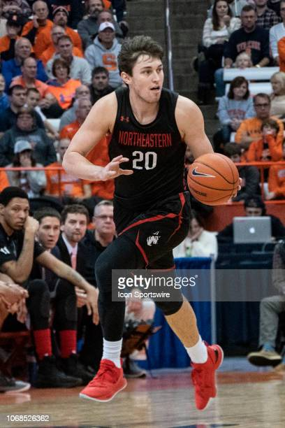 Northeastern Huskies Guard Bolden Brace dribbles the ball up the court during the first half of the Northeastern Huskies versus the Syracuse Orange...