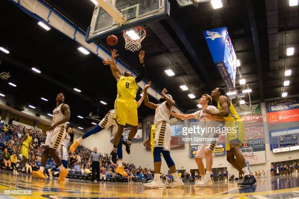 Northern Arizona Lumberjacks guard Torry Johnson goes for a layup during the game between the Cal State Bakersfield and Northern Arizona on December...