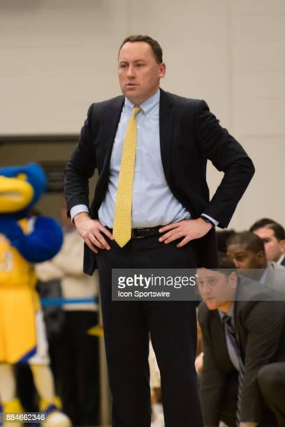Northern Arizona Lumberjacks head coach Jack Murphy watches game play during the game between the Cal State Bakersfield and Northern Arizona on...
