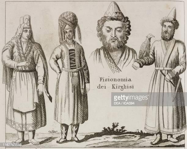 Udmurts Physiognomy of the Kyrgyz Sultan of Kyrgyz Northern Asia lithograph from Galleria universale di tutti i popoli del mondo ossia storia dei...