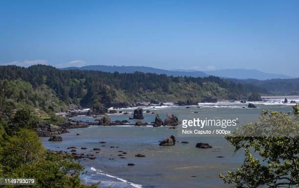 northern california coast - caputo foto e immagini stock