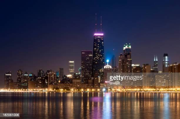 Northern Chicago Skyline at Night