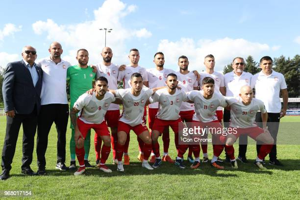 Northern Cyprus during the CONIFA World Football Cup 2018 match between Northern Cyprus and Tibet at Enfield Town on June 2 2018 in London England