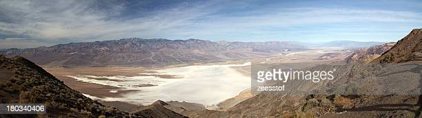 northern death valley from dante's peak - zeesstof stock pictures, royalty-free photos & images