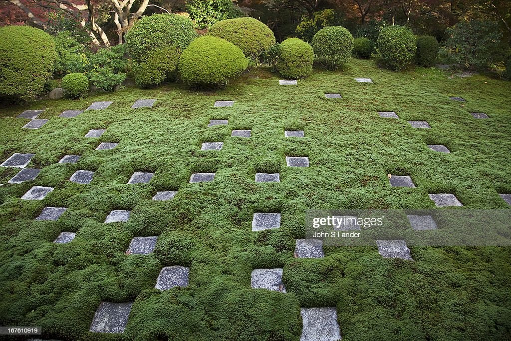 Northern Garden, Tofukuji Temple. Square-cutted stones and ...
