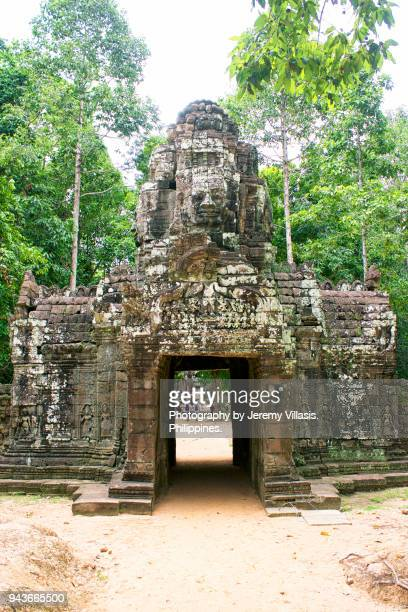 northern gopura, neak pean, angkor - khmer stock pictures, royalty-free photos & images