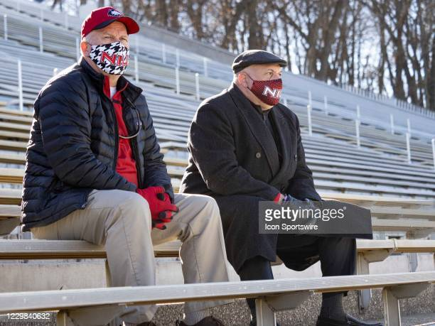 Northern Illinois Huskies athletic director Sean Frazier observes his team during the college football game between the Northern Illinois Huskies and...