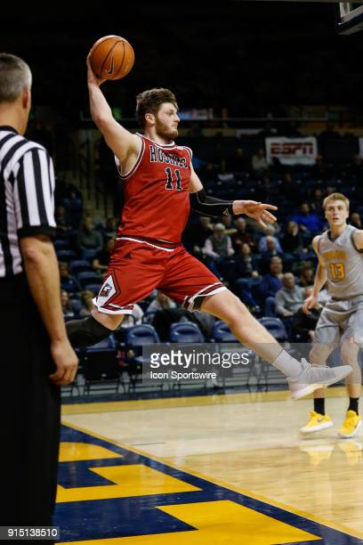 Northern Illinois Huskies forward Noah McCarty saves the ball from going outofbounds during the second half of a regular season MidAmerican...