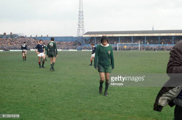 Northern Ireland 0 1 Scotland at George Best received his first red card for Northern Ireland after throwing mud at the referee at Windsor Park...