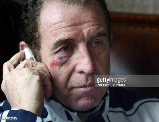 Northern Ireland assistant manager Gerry Armstrong at the team hotel