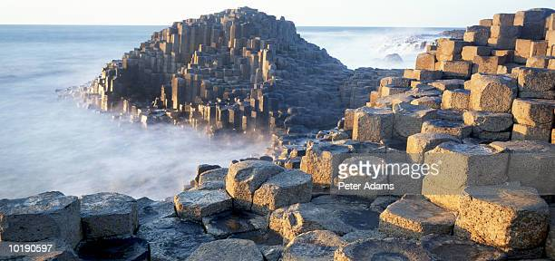 northern ireland, county antrim, giants causeway - basalt stock pictures, royalty-free photos & images