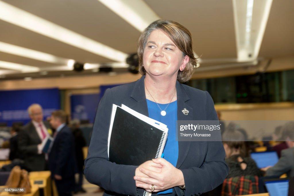 Northern Ireland Democratic Unionist Party Leader Arlene Foster Talk News Photo Getty Images