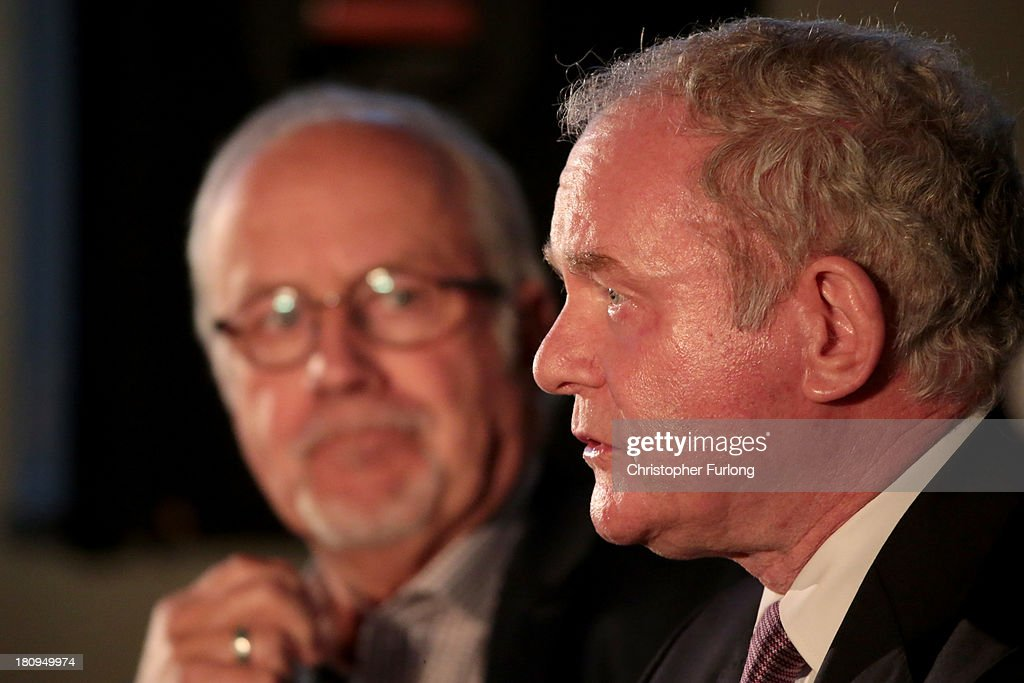 Martin McGuinness Speaks At The Tim Parry Jonanthan Ball Foundation For Peace
