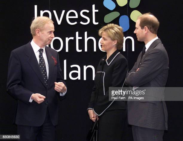 Northern Ireland Enterprise Minister Sir Reg Empey welcomes the Earl and Countess of Wessex to Belfast at the start of a twoday visit to the province...